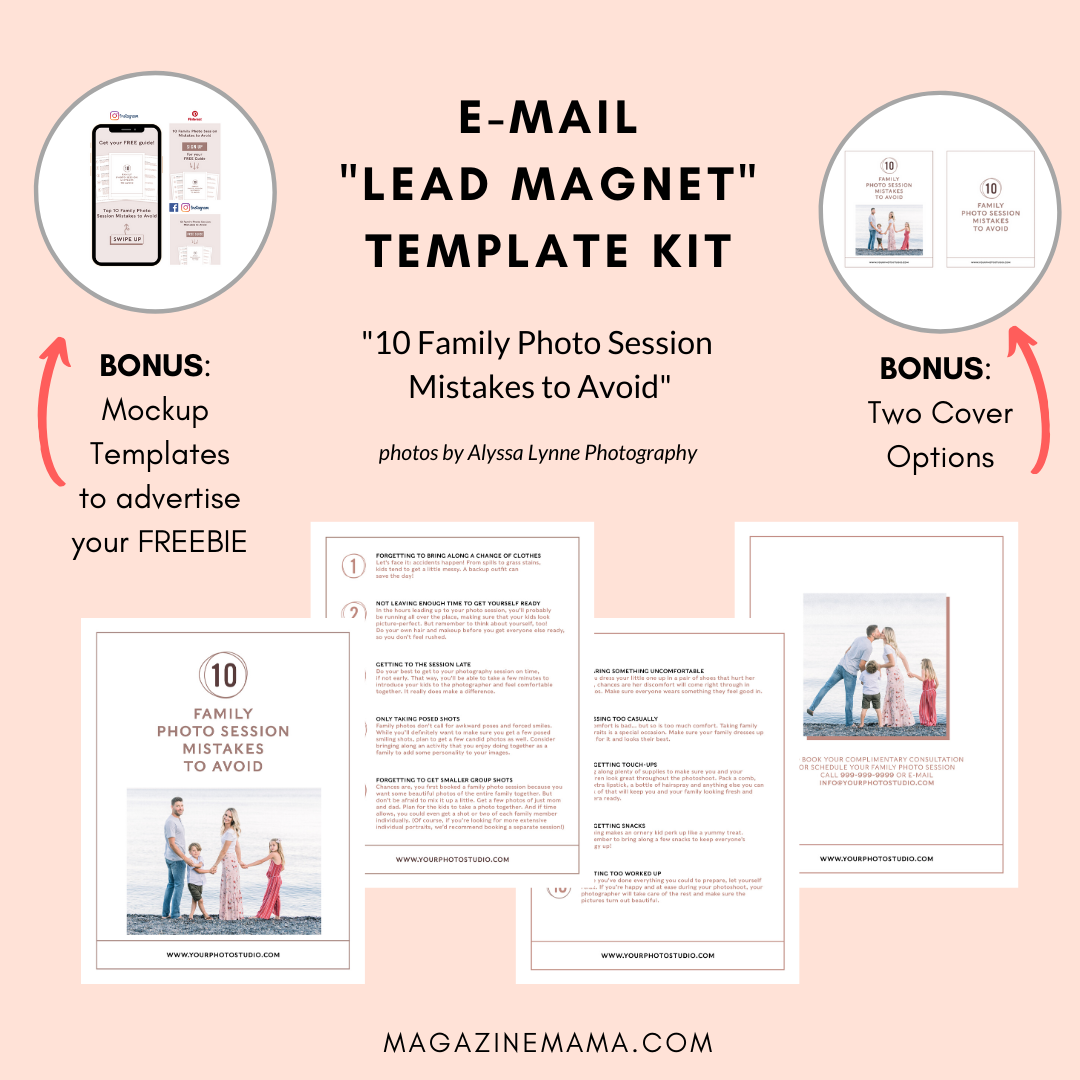 photographer lead magnet template