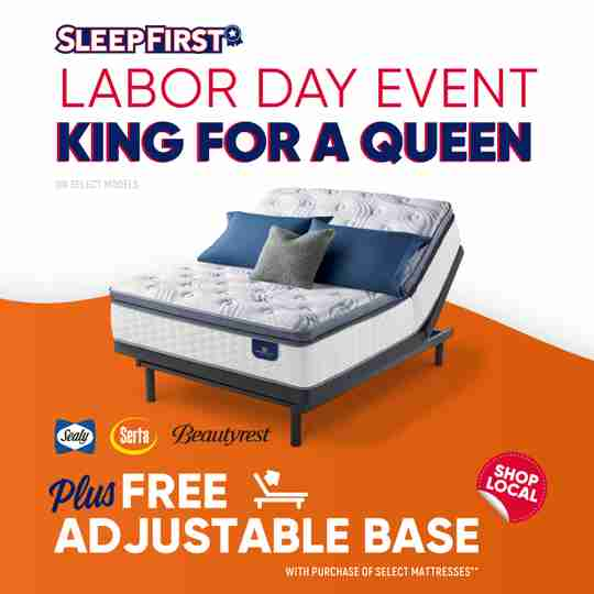 Sleep First Labor Day Sale Promotion