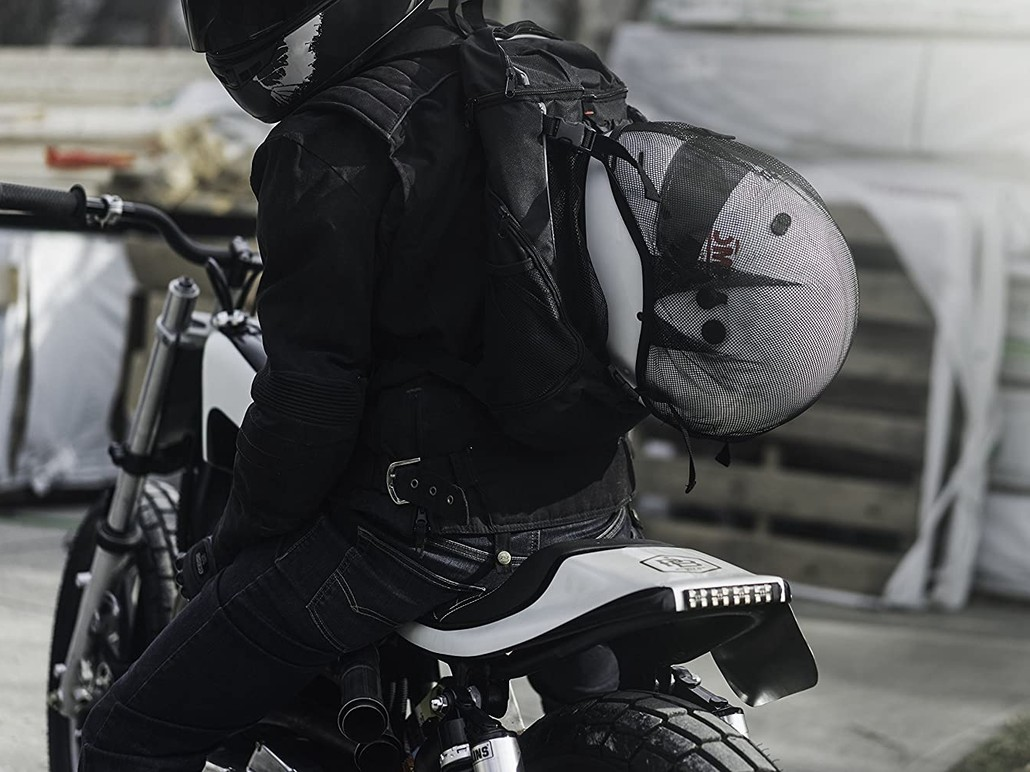 Badass Moto Motorcycle Commuter Reflective Laptop Backpack