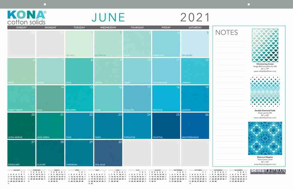 kona 2021 calendar