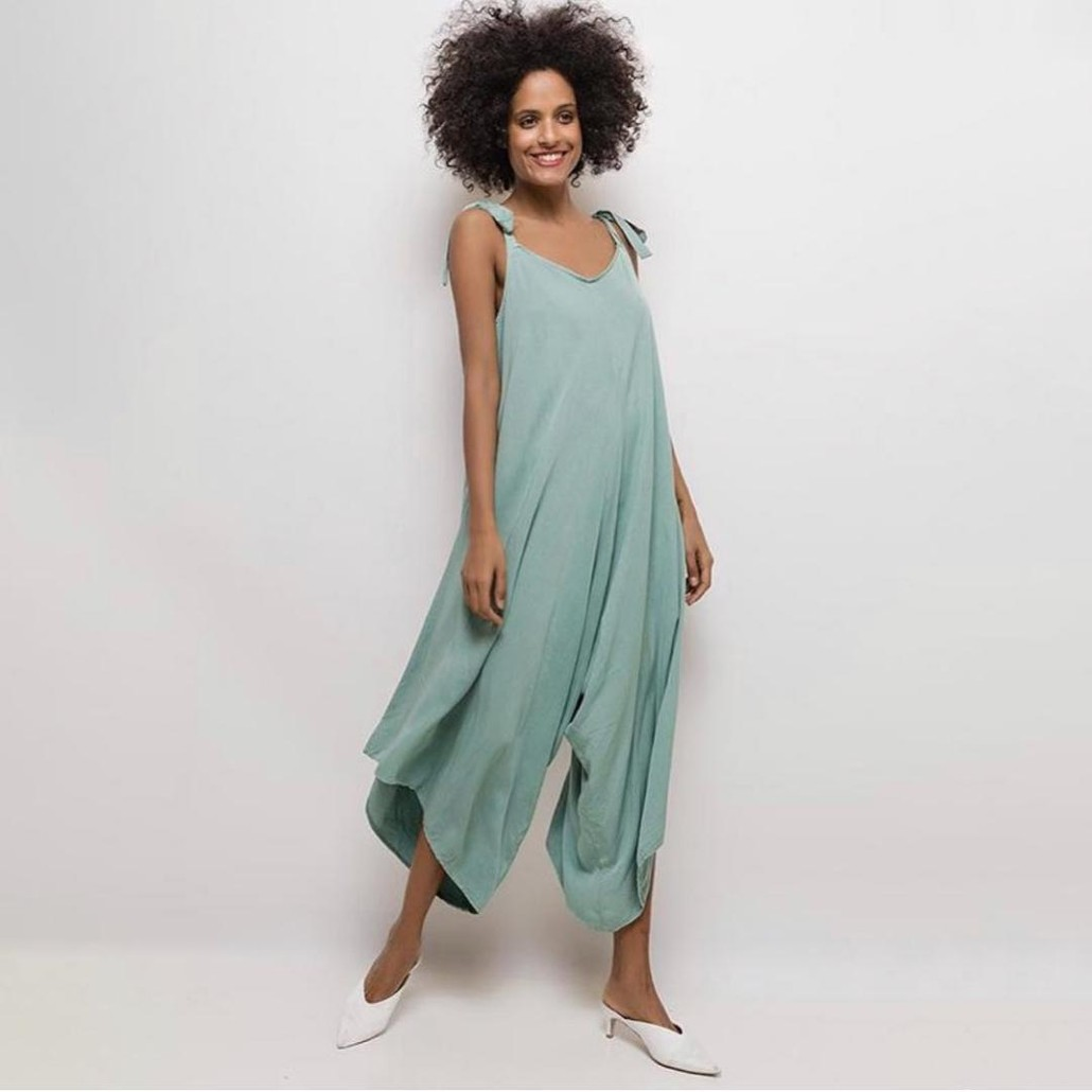 Relaxed Fit Jumpsuit Duck Egg Blue