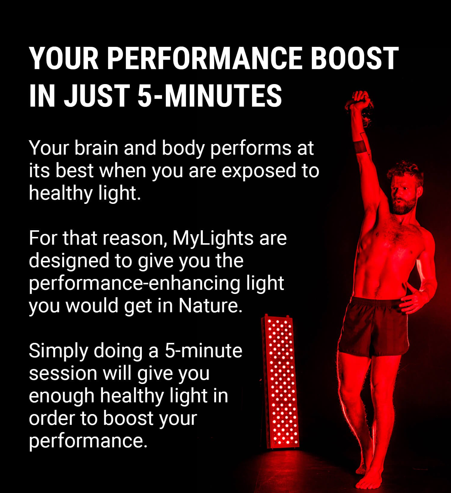 Performance boost red light therapy