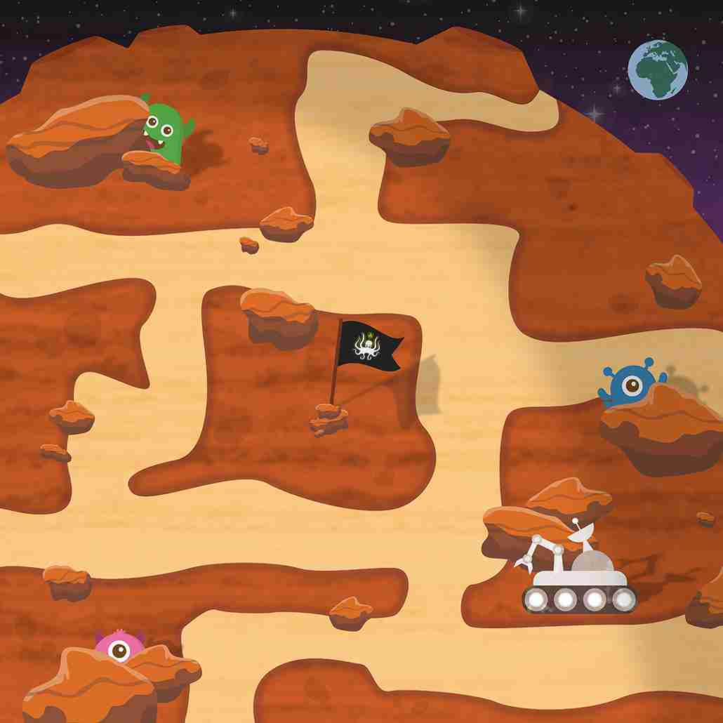 Mars Road Playmat For Kids