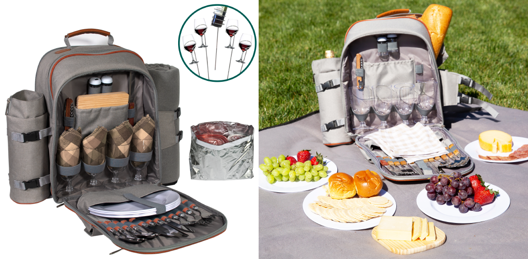 picnic backpack for 4 with new Youtube video
