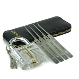Best Lock Pick Sets - Serenity Picks with Wallet. Padlock not included