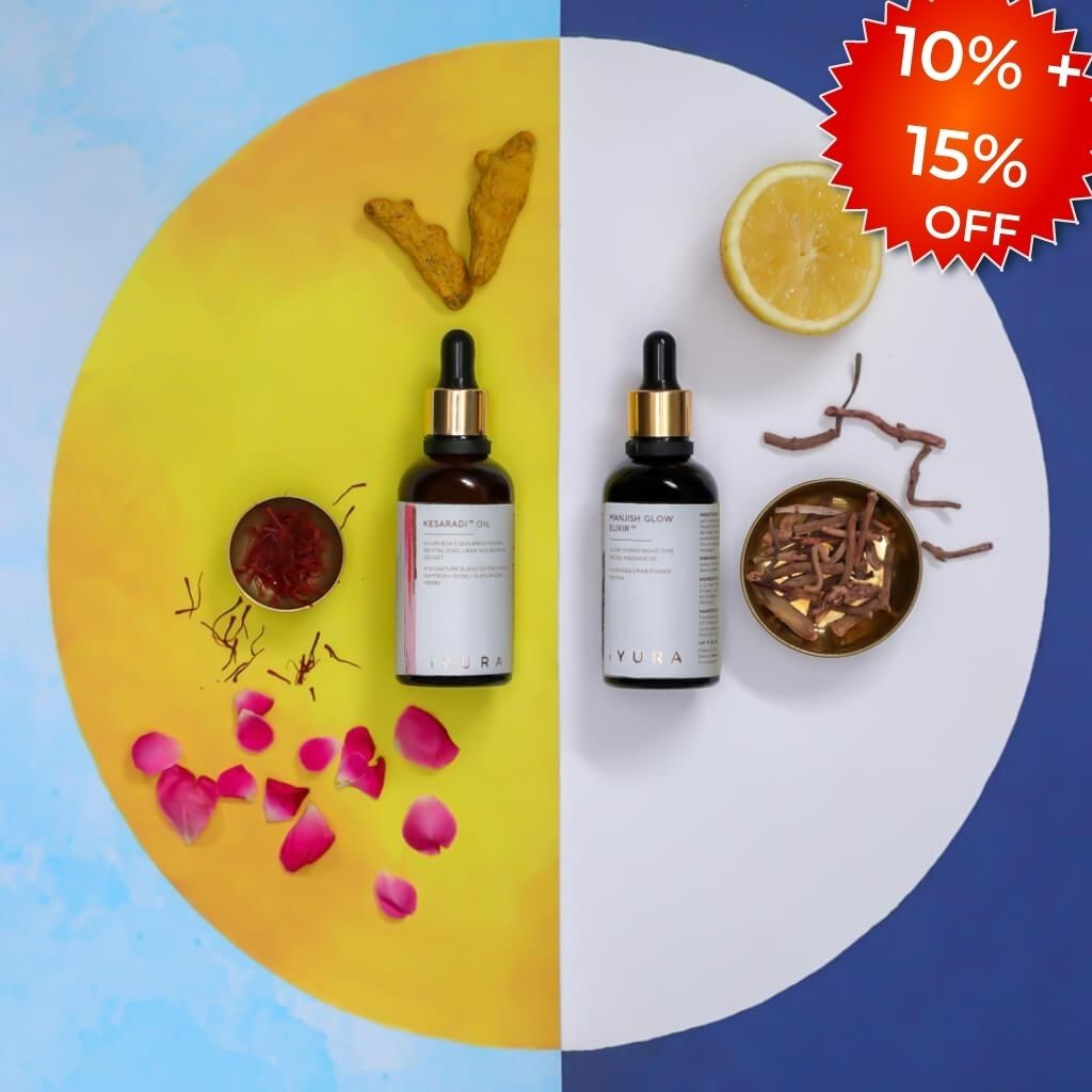 Day & Night Face Oil Duo - Best Moisturizer for Healthy Skin - Ayurvedic Natural Skincare Set