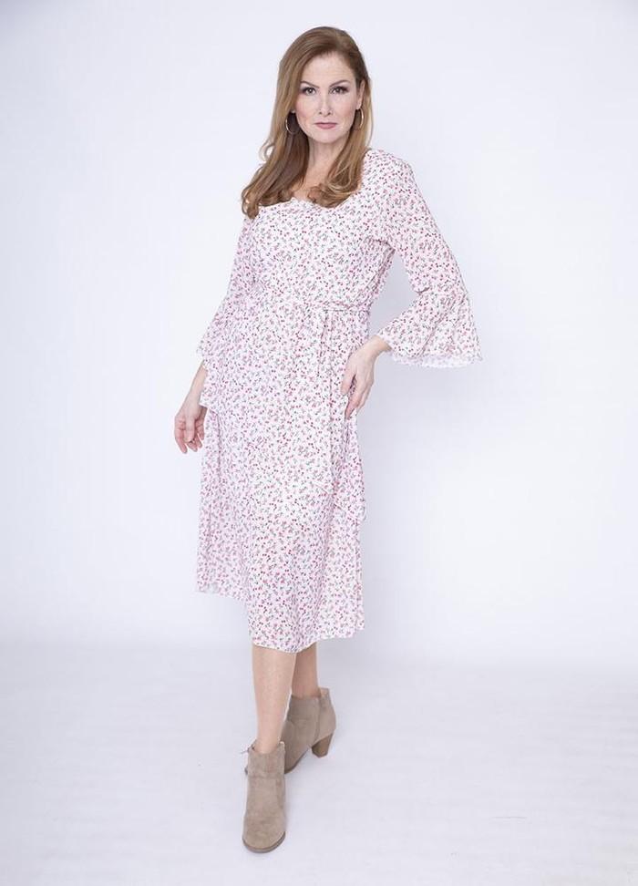 V Neck Laura Georgette Dress