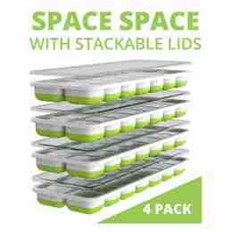 Save space with stackable lids