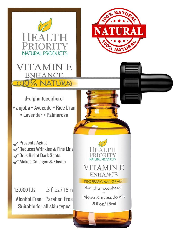 100% Natural & Organic Vitamin E Oil