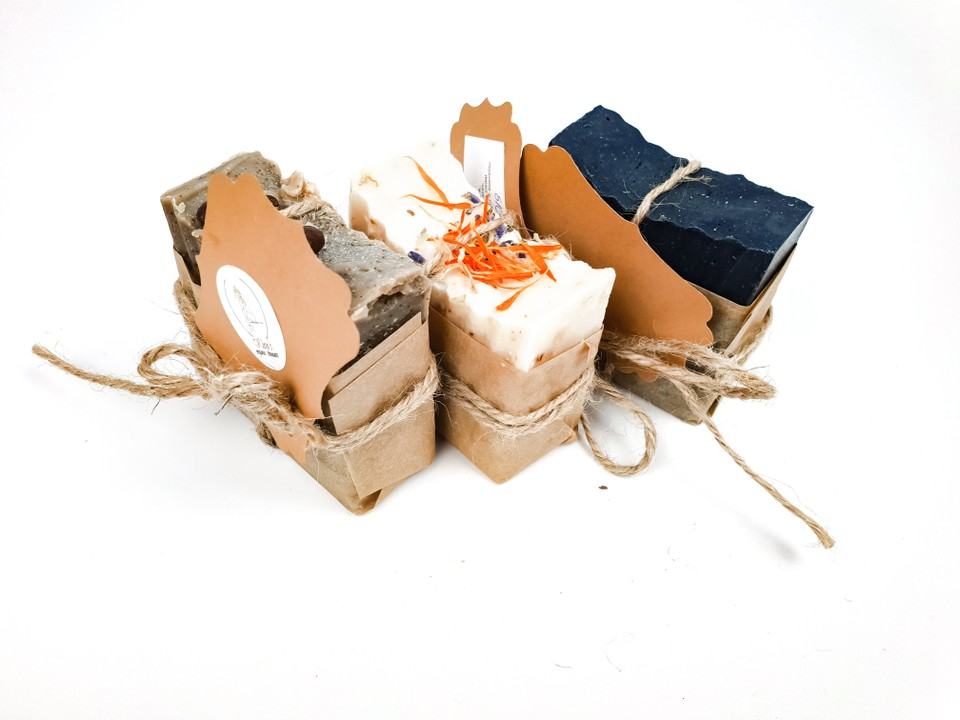 image of the AMBITION hand made soap trio set