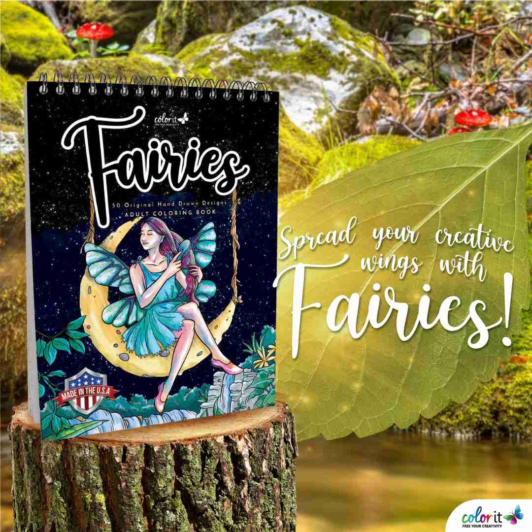 ColorIt Fairies Coloring Book for Adults
