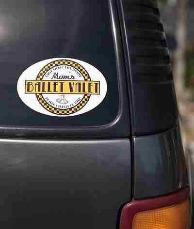 Mom's Ballet Valet - Removable Car Sticker