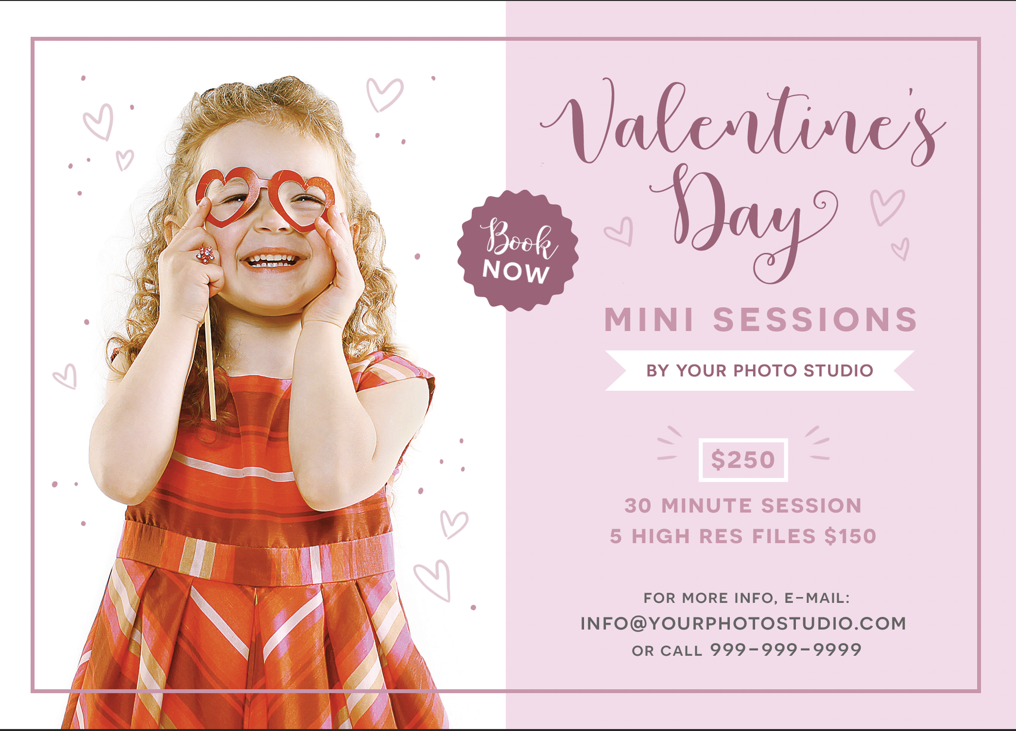 FREE Valentines Day Mini Session Photography Marketing Template