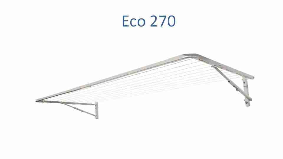 eco 270 fold down clothesline 2500mm wide deployed