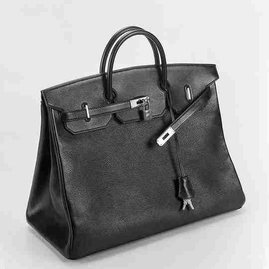 A black Hermès Birkin bag