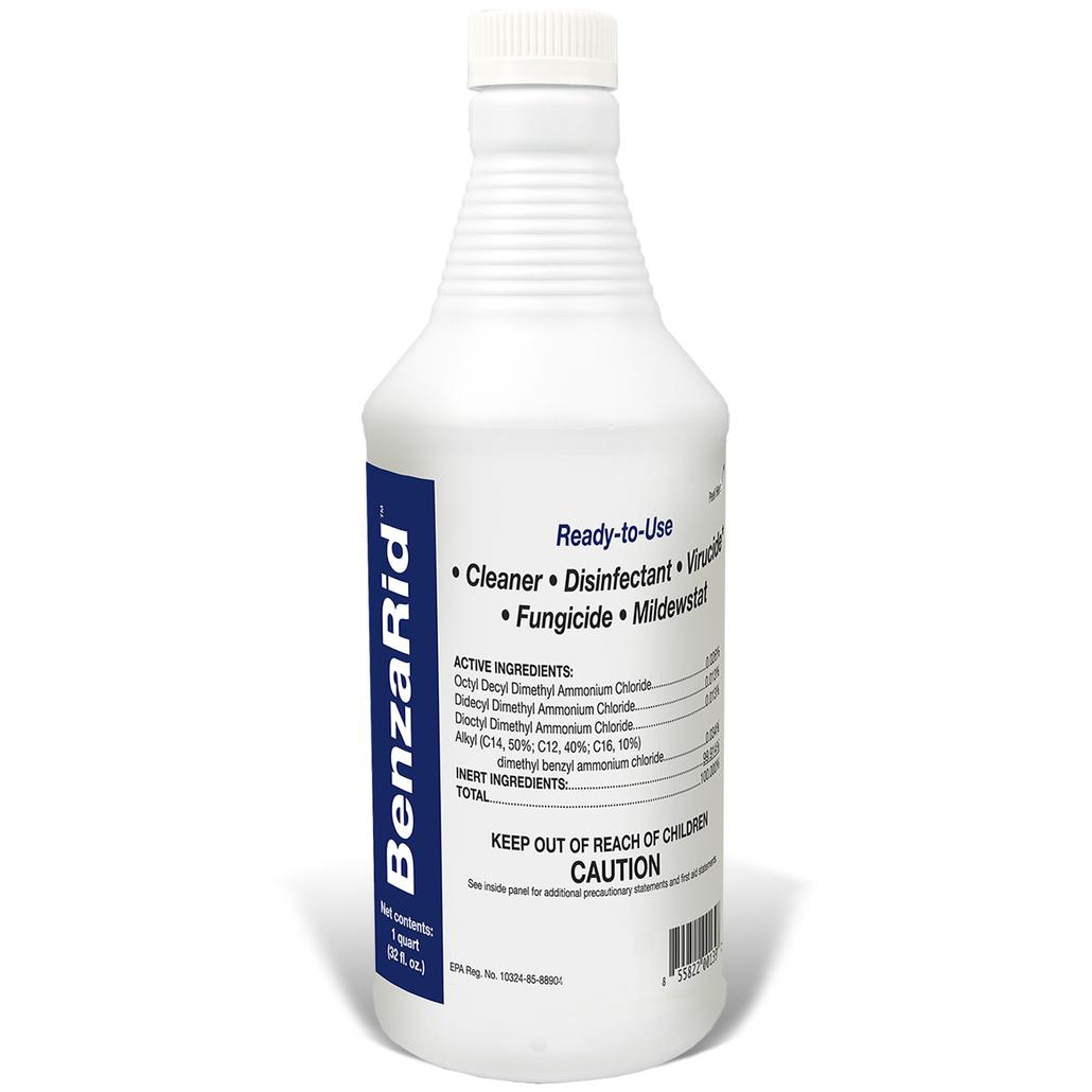 BenzaRid Hospital Grade Cleaner - Disinfectant, Virucide, Fungicide - 32oz