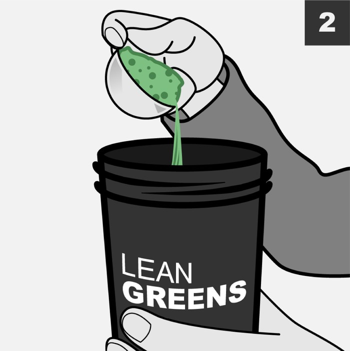 Add a scoop of Lean Greens Super Greens Powder