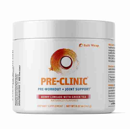 Pre-clinic pre-workout with collagen