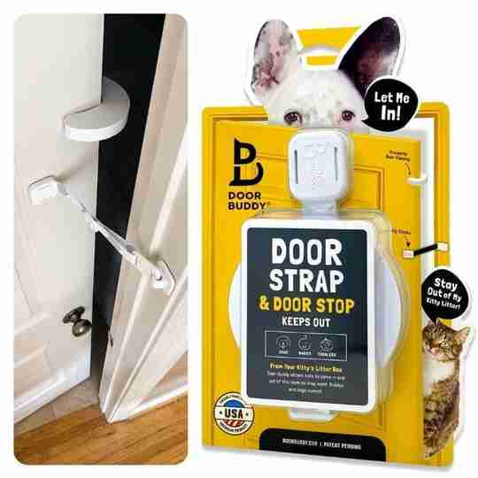 door latch with door stopper - door buddy blog image
