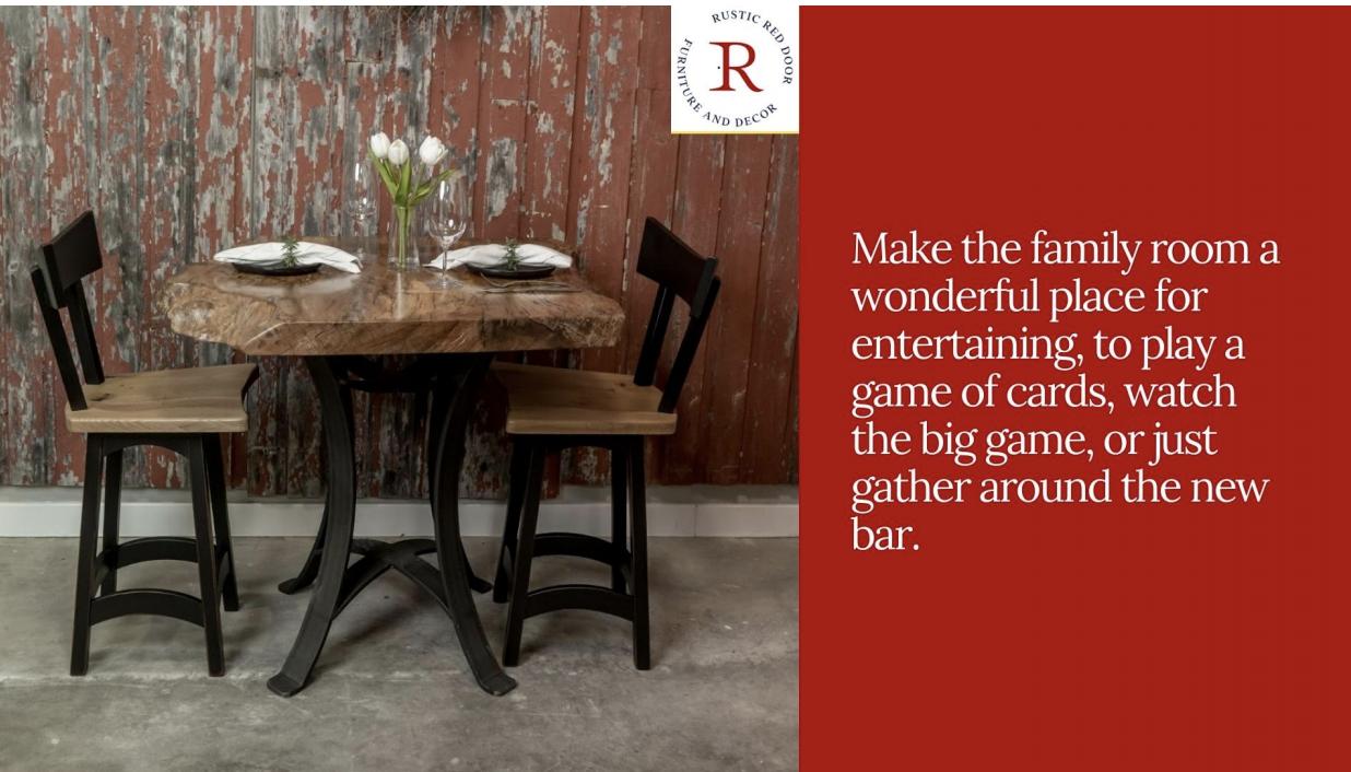 live edge wood pub table
