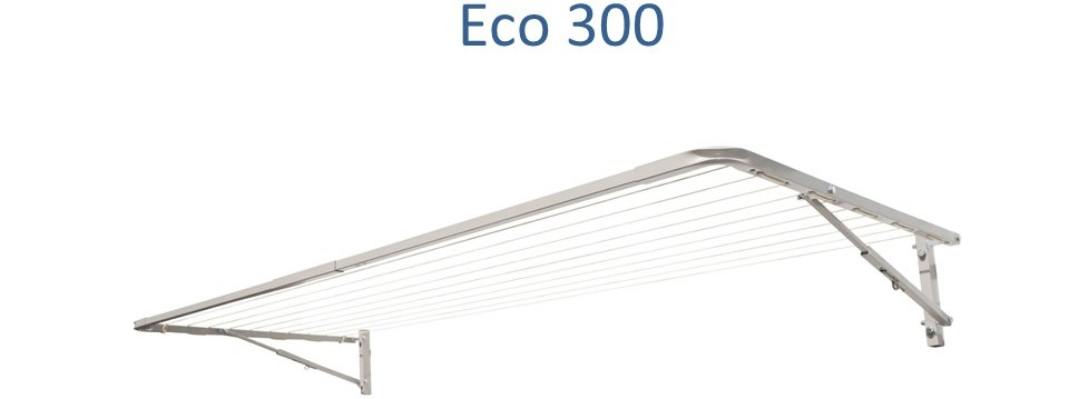 eco 300 2.9m wide clothesline front view
