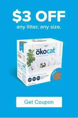 OKOCAT NATURAL CAT LITTER COUPON