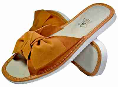 Ophelia Women bedroom slippers - Reindeer leather