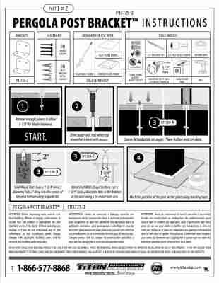 Pergola Post Bracket Installation Guide