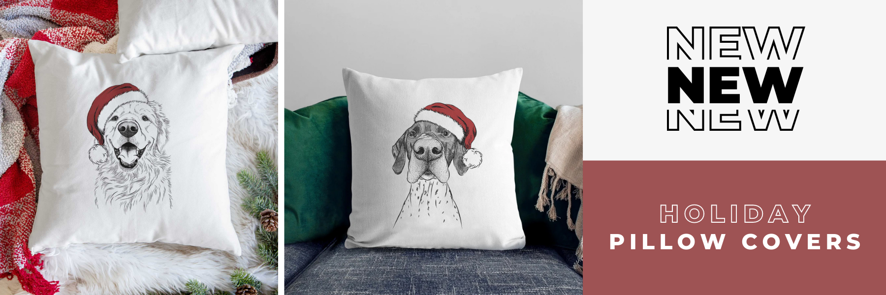 NEW HOLIDAY PILLOW COVERS