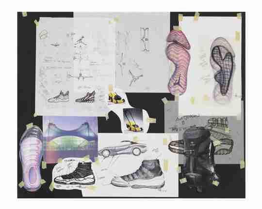 Air Jordan 11 Design Sketches by Tinker Hatfield