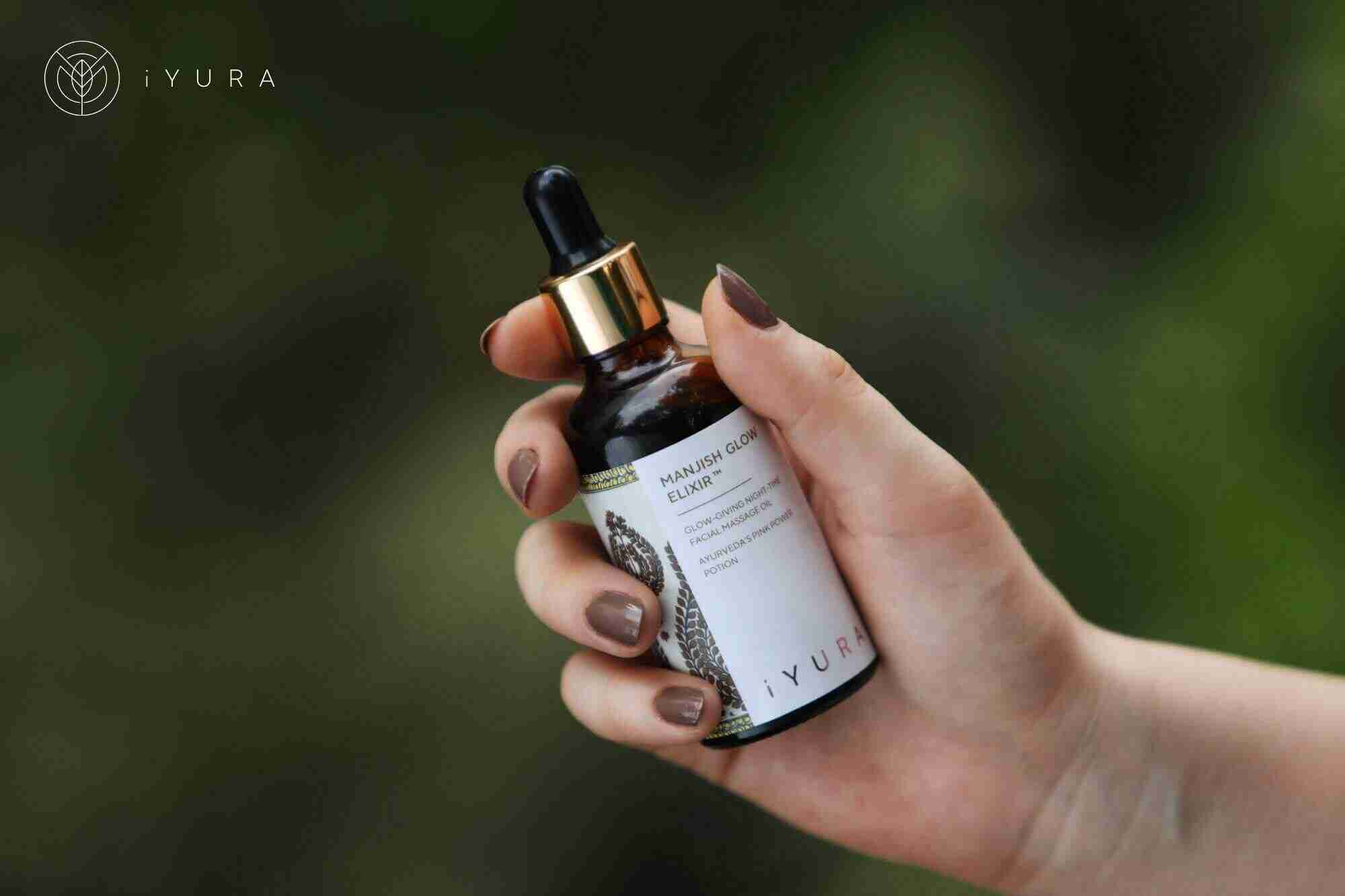 iYURA Manjish Glow Elixir - 4 drops, 5 minutes every night for a natural, no makeup glow!