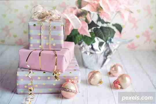 nuansa pink, pink christmas, ide dekorasi natal