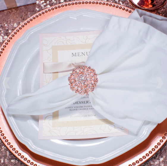 Rose Gold Napkin Ring 412-R-N