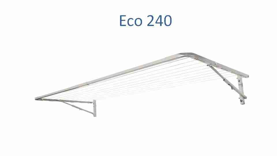 eco 240 fold down clothesline 2400mm wide deployed