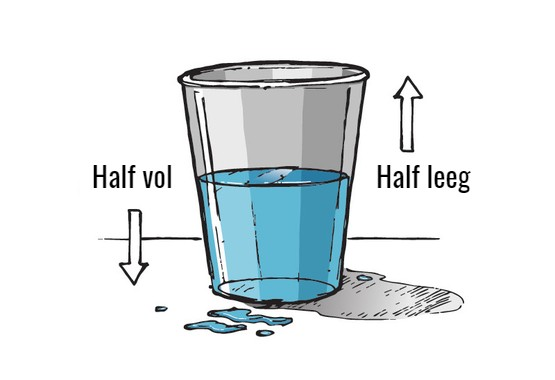 Is het glas half vol of half leeg?