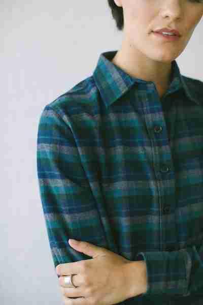 Women's Shirt Jacket | North Coast Dusk Flannel