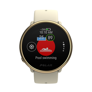 Swimming metrics Polar Ignite 2 automatically detects your heart rate, swimming style, distance, pace, strokes, and rest times. Distance and strokes get tracked also in open water swimming. Polar Ignite 2