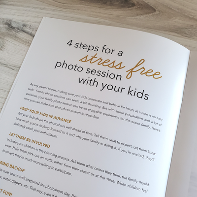 Family Photography Welcome Guide Template