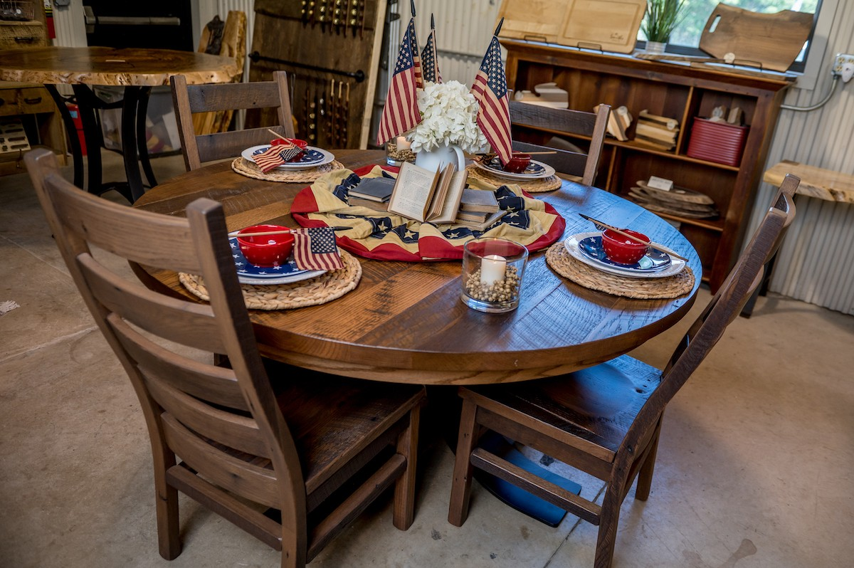Granby Barnwood Round Dining Table