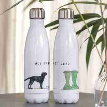 personalised dog water bottle for dog dads