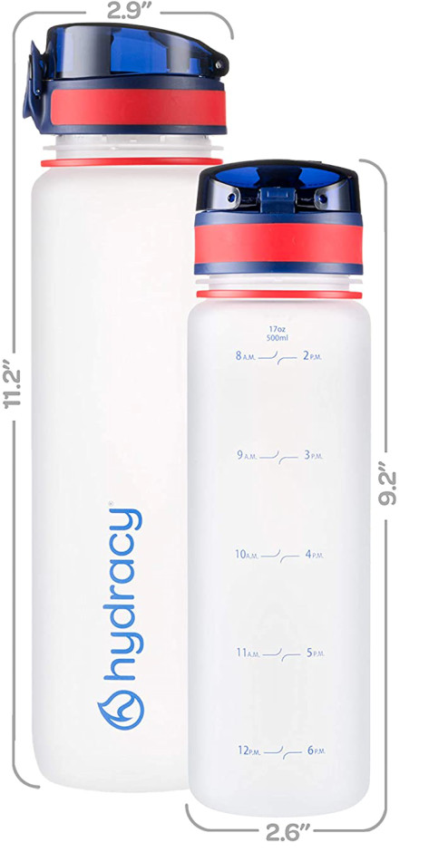 Sports Water Bottle with Time Marker 32oz R&B