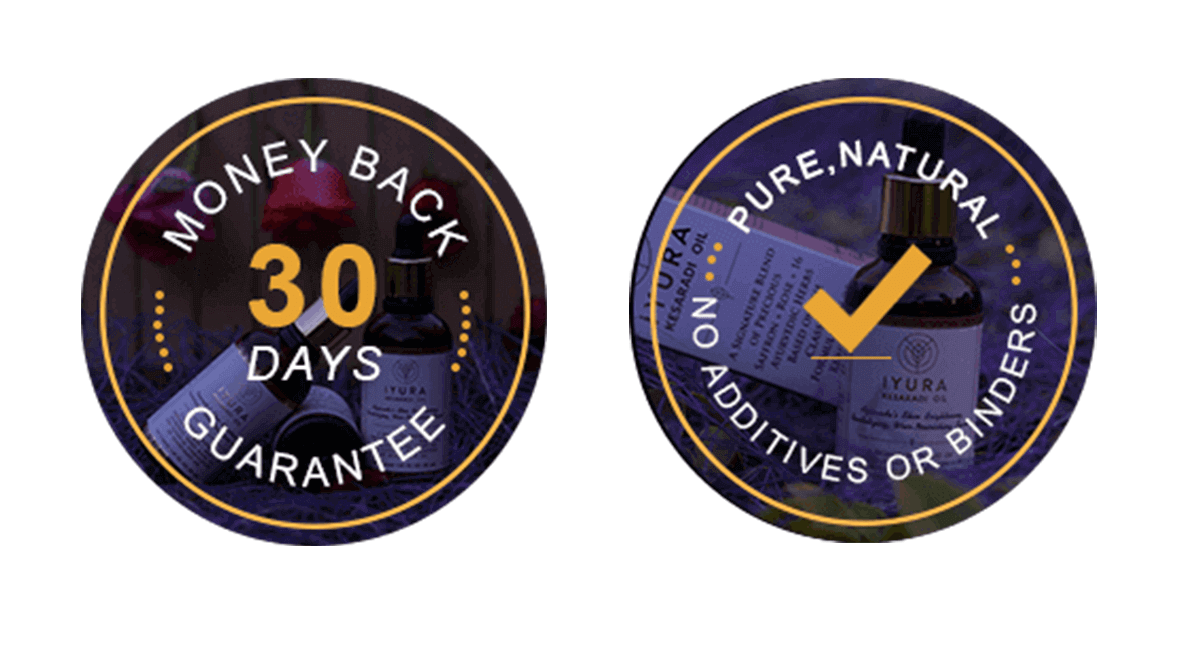 iYURA Trust Badges: 1. 30-Day Money-back Guarantee 2. Pure, Natural, No Additives or Binders