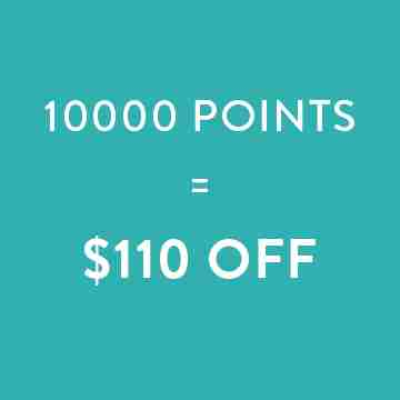 10000 points=$110 off