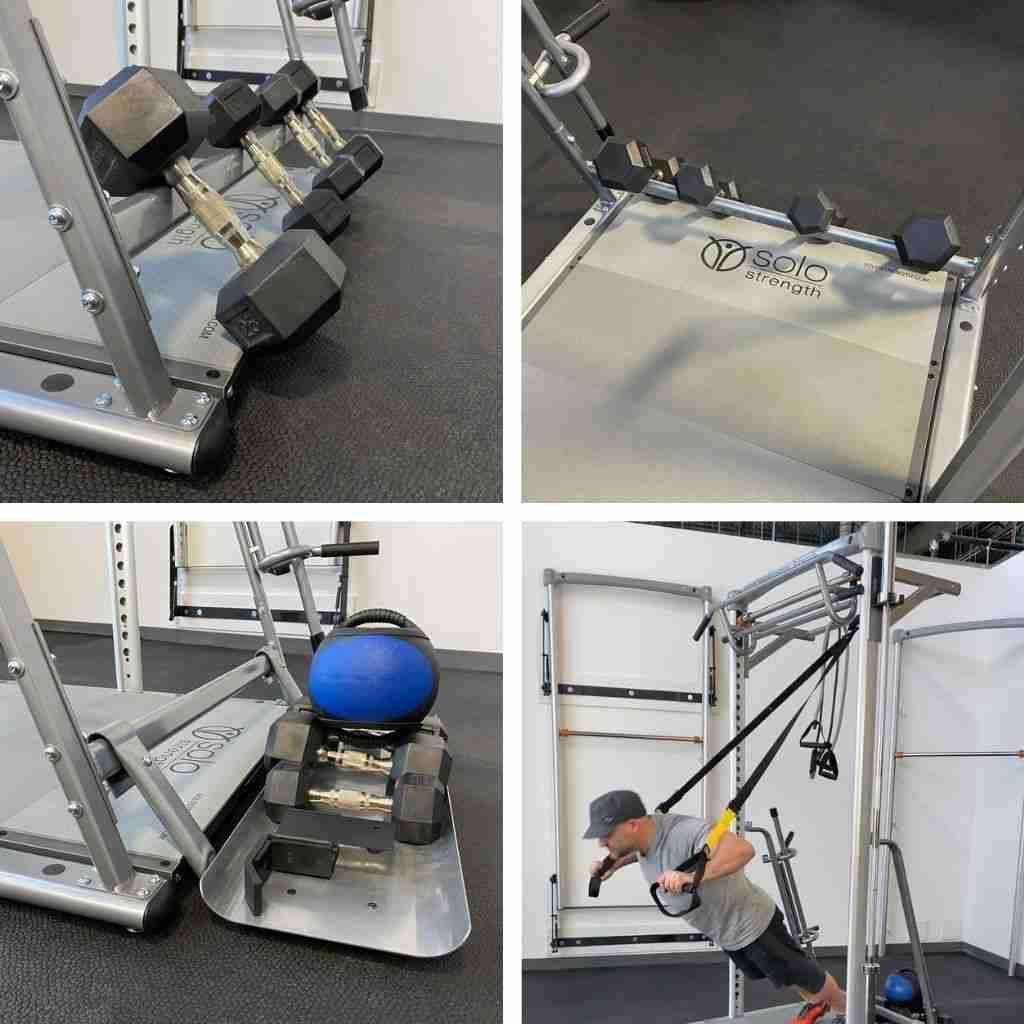 counterweight tray for freestanding ultimate training station base