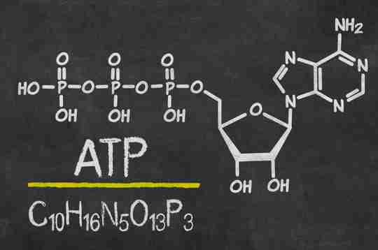 The chemical formula of ATP