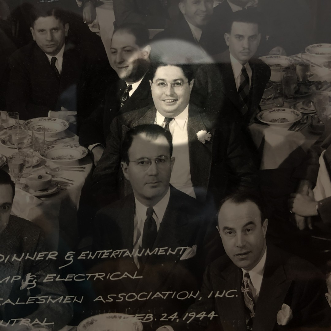 A young Ted Steinberg at an annual sales meeting in 1944.