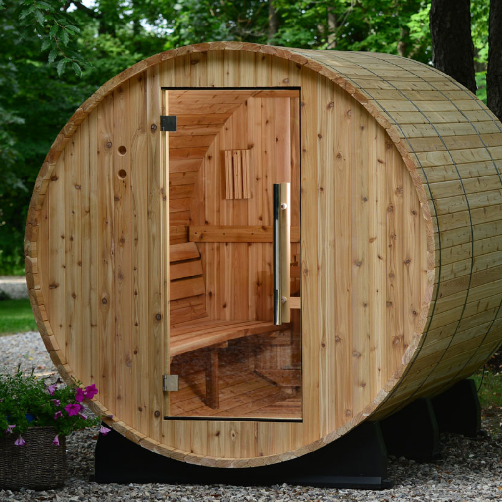 almost heaven pinnacle 4-person barrel sauna