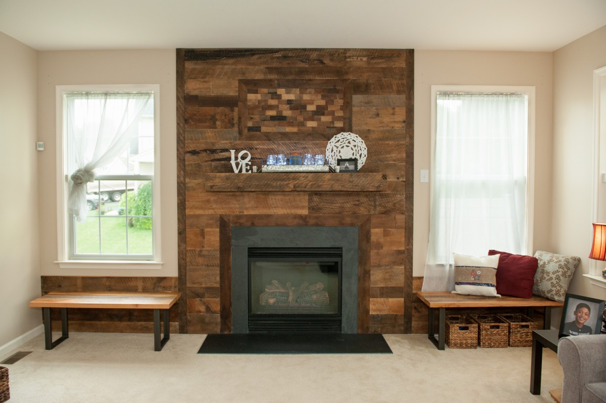 wood mantel and surround