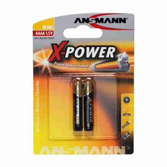 AAAA 1.5V Mini Alkaline X-Power Blister of 2