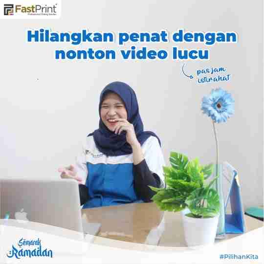 refreshing di kantor, tips produktif saat ramadan, nonton video lucu